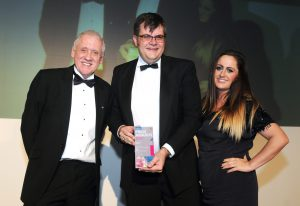 Cannon PR founder is presented with the title of Outstanding Freelance Practitioner at the 2014 CIPR Yorkshire & Lincolnshire PRide Awards
